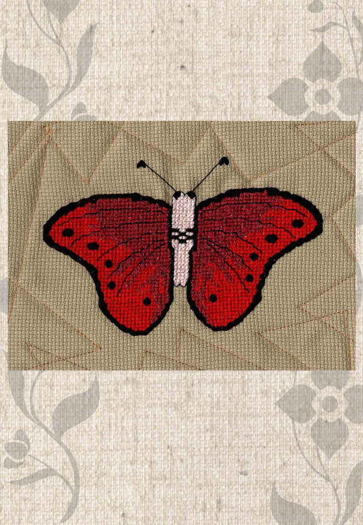 Buy Red Butterfly Cross Stitch Pattern - Raspberry Lane Crafts Magic Butterfly Collection Pattern - red butterfly - Great Spangled Fritillary Butterfly designed by Wendy Christine