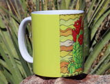 Beautiful Cactus Mugs for Sale by The Art of Wendy Christine