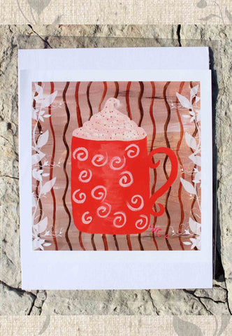 Red Coffee Mug Art Print