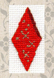 Buy Red Diamond ornament cross stitch at Raspberry Lane Crafts