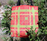 Red and Green Plaid Tote Bags by Wendy Christine for Sale