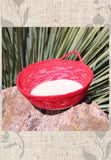 Artisanal Red Vanilla Bottom Mini Basket