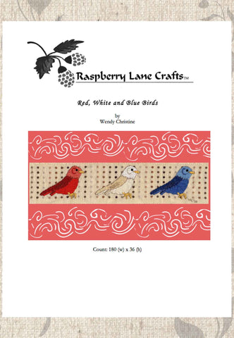 Red, White, and Blue Birds Cross Stitch Download