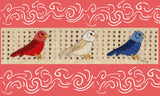 Red, white, and blue birds cross stitch is a Fourth of July patriotic pattern to stitch!