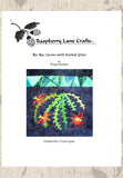 Southwest Red Cactus Stained Glass Quilt Pattern Download for Sale at Raspberry Lane Crafts Free No Shipping on Downloads