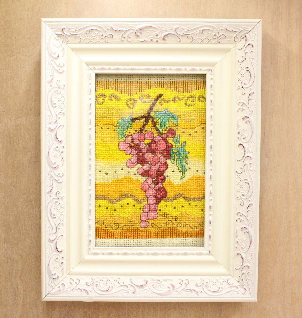 Rosanella Pink Red Grapes Cross Stitch Pattern Sale Digital Download ...