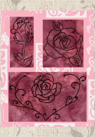 Rose Blooms Embroidery Download