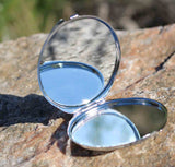 Opened Round Compact Mirror for Sale at Raspberry Lane Crafts