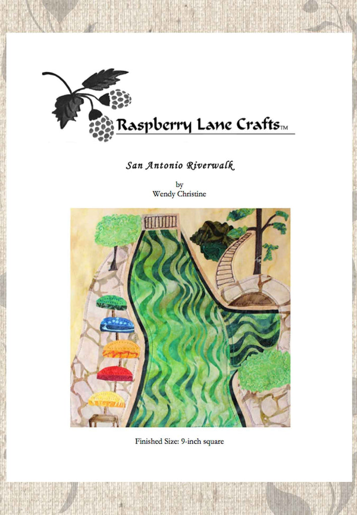 Buy San Antonio Riverwalk Quilt Block Pattern Download at Raspberry Lane Crafts