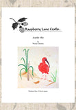 Scarlet Ibis quilt pattern download for sale at Raspberry Lane Crafts Beach Birds Seaside Habitats Collection