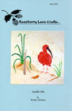 Scarlet Ibis quilt pattern front page.  Block #1 in Seaside Habitats Collection.  Available at Raspberry Lane Crafts.