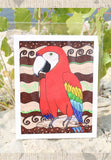 Scarlet Macaw 8 x 10 inch art print for sale, buy, find, purchase.