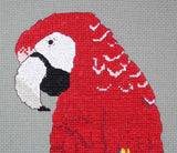 Scarlet Macaw on Clay Cliffs Cross Stitch Pattern Digital Download