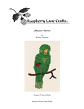 Buy Amazon green parrot cross stitch pattern download cover page for sale at Raspberry Lane Crafts.