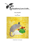 Armadillo quilt block pattern for sale at Raspberry Lane Crafts. Claret red cactus.