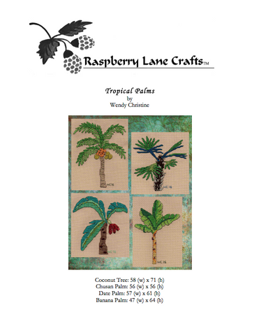 Tropical Palms Cross Stitch Pattern Digital Download