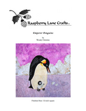 Raspberry Lane Crafts Emperor Penguins adult with chick quilt block pattern front cover.