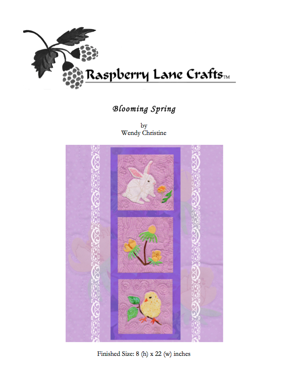 Blooming Spring Quilt Pattern Digital Download