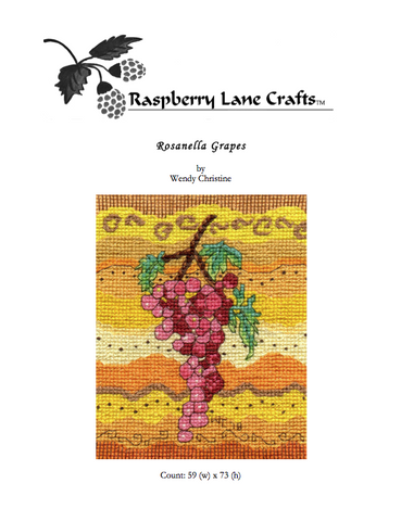 Rosanella Grapes Cross Stitch Digital Download
