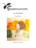 The Jack Rabbit quilt block pattern digital download front page includes the Raspberry Lane Crafts logo and a photo of finished block featuring a jackrabbit in front of an orange natural stone arch with green bushes.  Buy at Raspberry Lane Crafts.