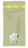 Safari African Elephant Hand Towel for Sale at Raspberry Lane Home Collection The Art of Wendy Christine