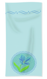 Soft Aqua Hand Towel with Blue Flower Lady Blue Design by The Art of Wendy Christine Home Decorators