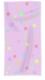 Pink spotted hand towel for sale. Baby shower gift ideas.