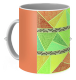 Colorful Coffee Mugs with Geometric Patterns Tunisia Mug by Wendy Christine.  Buy Purchase Find Coffee Mugs for Sale.