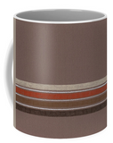 Brown Stripe Mug for Coffee and Tea and Cocoa for Sale.  Great Gift for Guys!  Raspberry Lane Crafts.