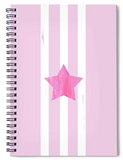 Pink Star Spiral Notebook for Sale from Raspberry Lane Crafts.