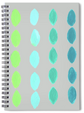 Yucatan Agua green and aqua on gray spiral notebook for sale.  From The Art of Wendy Christine.