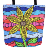 Liberty Flower Tote Bag for Sale in Three Sizes 13 x 13, 16 x 16, 18 x 18 inches