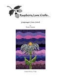 Buy Grapesugar Cross Stitch Pattern Download E-Pattern featuring purples and light blue coneflower.