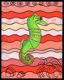 8 x 10 inches SeaHorse Art Print for Sale at Raspberry Lane Crafts