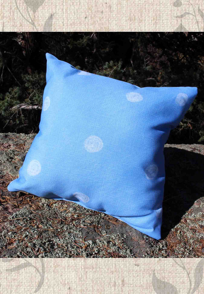 Sea Water Dot Throw Pillows 14 x 14, 16 x 16, 18 x 18, 14 x 20 inches for Sale
