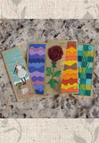 Sea to Garden Cross Stitch Bookmarks Pattern for Sale at Raspberry Lane Crafts Red Rose, Sandpiper, Seascape, Mountains, Sunset
