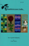 "Sea to Garden Bookmarks pictured are four cross stitches ""Seaglass"", ""Black Rose"", ""Mountain Air"" and ""Beachcomber"" by Wendy Christine 2015"