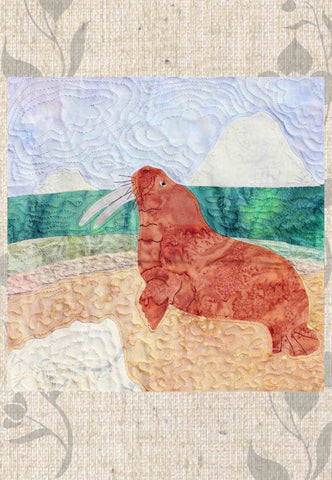 Seashore of the Walrus Quilt Block Pattern