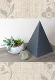 Buy Dark slate gray paper pyramid decoration for your home 11.5 inches tall for sale