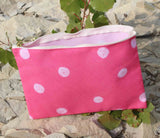 Pink Spotted Zipper Cosmetics Bags for Sale by Wendy Christine