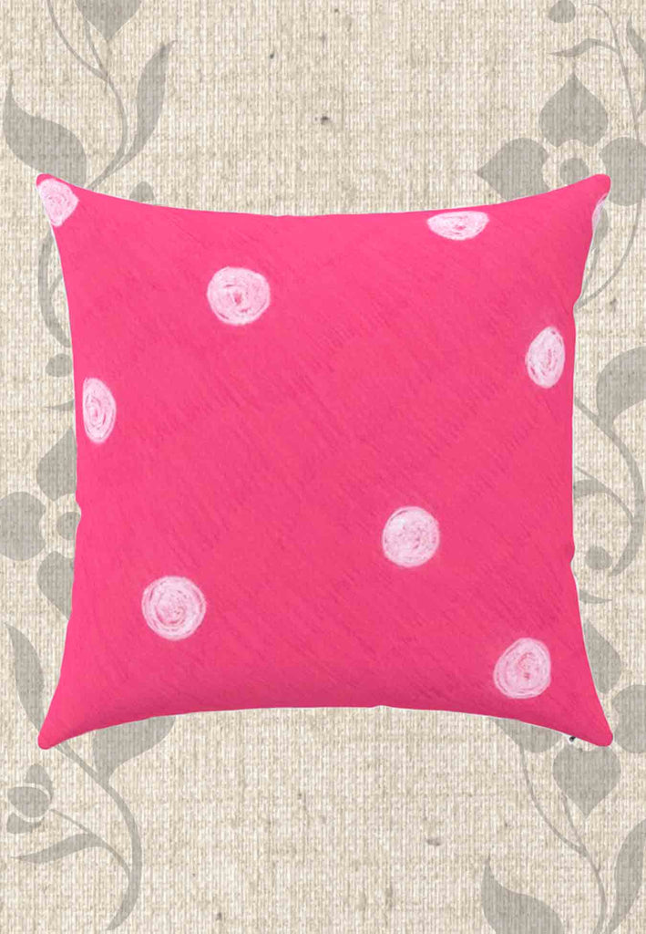 Snail Shell Dot Throw Pillows Hot Pink with Dots for Sale at Raspberry Lane Crafts