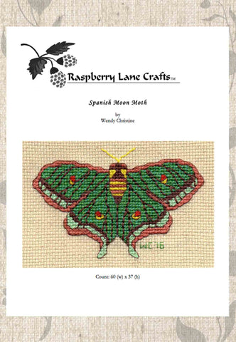 Spanish Moon Moth Cross Stitch Pattern Download