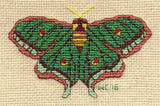 Buy pretty green butterfly cross stitch pattern download - Spanish Moon Moth by Wendy Christine