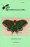 Spanish Moon Moth Cross Stitch Pattern