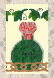 Parsley Spice Rack with Leaves Cross Stitch Pattern for Sale