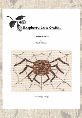 Spider in Web Cross Stitch Pattern Download