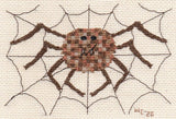 Spider in Web Halloween Cross Stitch Pattern for Sale at Raspberry Lane Crafts