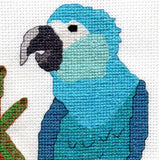 Spix macaw cross stitch pattern for sale buy purchase at Raspberry Lane Crafts