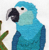 Spix's Macaw Cross Stitch Pattern