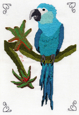 Spix's Macaw Cross-Stitch